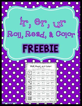 Ir, Er, Ur, Roll, Read, and Color FREEBIE