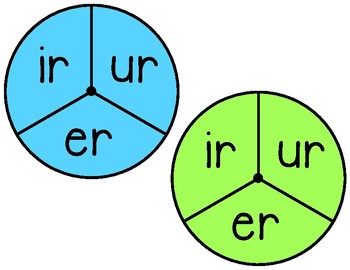 Ir, Er, Ur R-controlled Vowels Spin and Read