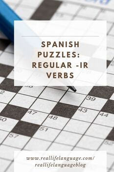 Ir Infinitive Word Puzzles for Beginners of Spanish