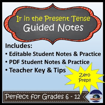 Ir & Ir + a + Infinitive - Spanish Guided Notes and Key