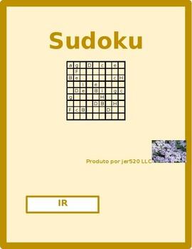 Ir Portuguese verb Present tense Sudoku