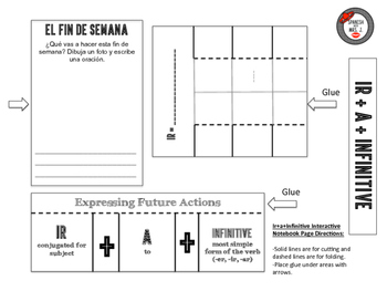 Ir + a + Infinitive Interactive Notebook Page