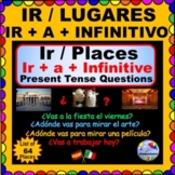 Ir a Infinitive and Ir with Lugares de la Ciudad Questions for Spanish Class