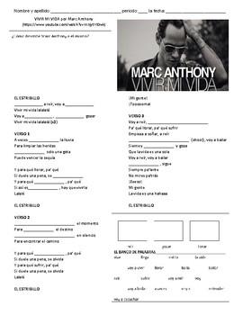 Ir+a+infinitive with Vivir Mi Vida- Marc Anthony