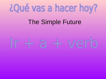Ir+a+verb  Simple Future