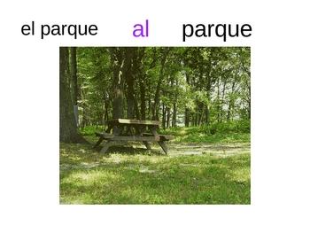Ir conjugation, prep. (a)  progress check , pictures, ppt.