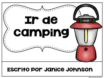 Ir de camping ~ Camping Readers & Cut & Paste {Bilingual}