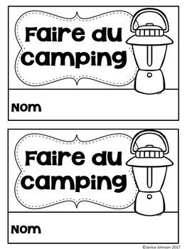 Faire du camping~French Camping Reader {en français} & Cut & Paste