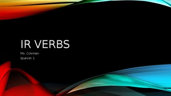 Ir verbs PowerPoint (Spanish)