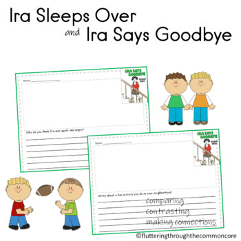 Ira Sleeps Over and Ira Says Goodbye  Bernard Waber Writing Prompts Text to Self