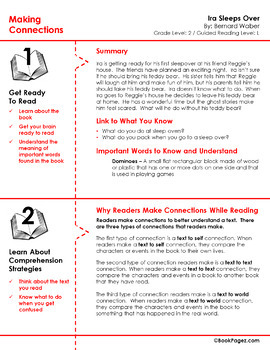 Ira Sleeps Over Lesson Plans & Activities Package, Second Grade (CCSS)
