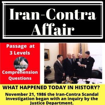 Iran-Contra Affair Differentiated Reading Passage, November 21