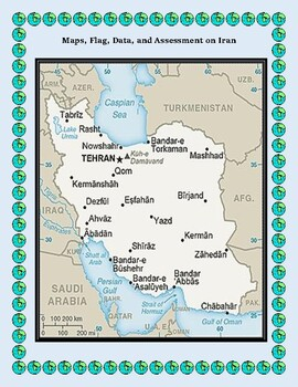 Iran Geography Maps, Flag, Data, Assessment - Map Skills Data Analysis