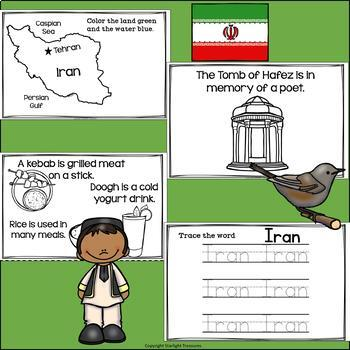 Iran Mini Book for Early Readers - A Country Study