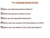 Iranian Revolution 1979 PowerPoint - NYS Global Regents Aligned