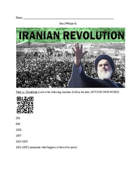Iranian Revolution (Webquest)