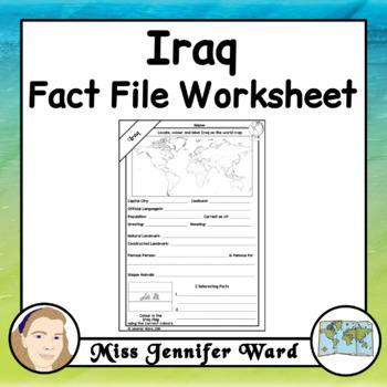 Iraq Fact File Worksheet