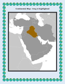 Iraq Geography Maps, Flag, Data, Assessment - Map Skills Data Analysis