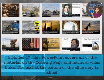 Iraq Invasion and War Review Page and PowerPoint