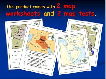 Iraq Maps Including Middle East Map Test