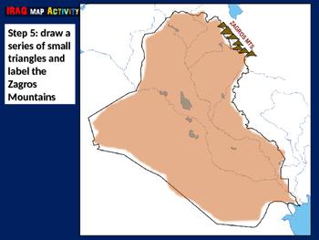 Iraq Map Activity- fun, engaging, follow-along 24-slide PPT