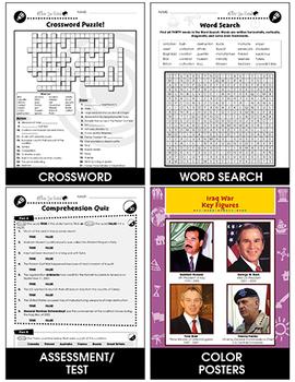 Iraq War (2003-2010): Iraq - Desert, Oil and Saddam Hussein Gr. 5-8