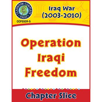 Iraq War (2003-2010): Operation Iraqi Freedom Gr. 5-8