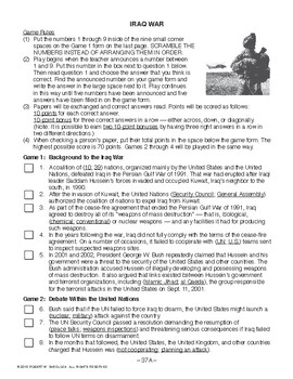 Iraq War, RECENT AMERICAN HISTORY LESSON 37 of 45, Exciting Class Game+Quiz