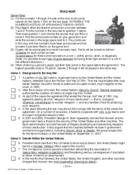 Iraq War, RECENT WORLD HISTORY LESSON 31/45, Exciting Class Game+Quiz