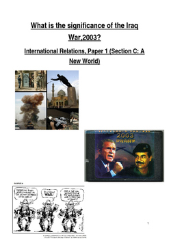 Iraq War Study Guide