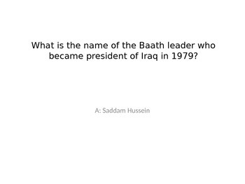 Iraq/Iran Review