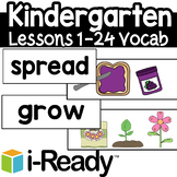 Iready Kindergarten Lesson 1 -24 Vocabulary Words FlashCards