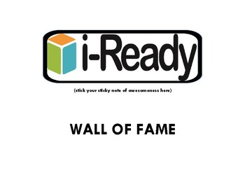 Iready Wall of Fame Poster