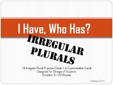 """Irregular Plurals """"I Have, Who Has?"""" Game"""