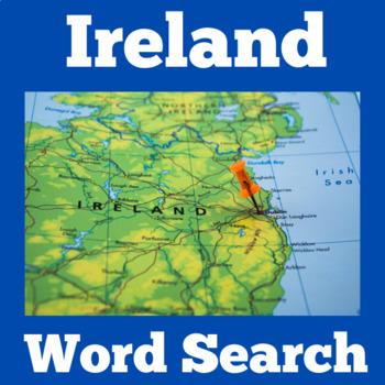 Ireland Activity   Ireland Word Search   Irish