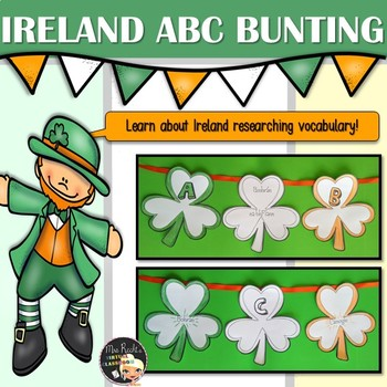 St Patrick ABC Shamrock Bunting