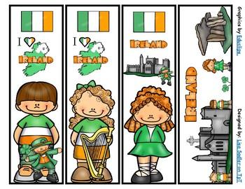 Ireland Bookmarks -  4 Designs