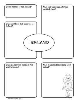 Ireland Copywork, Activities, and Country Booklet