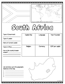 South Africa Country Fact Sheet