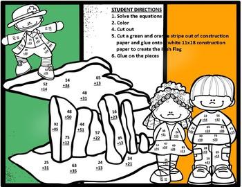 Ireland Double Digit Addition No Regrouping Math CRAFT