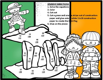 Ireland Double Digit Regrouping Addition Math Craft