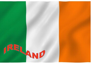 "Ireland Flag Poster 24"" by 16"""