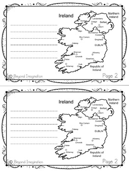 Ireland Country Study | 48 Pages for Differentiated Learning + Bonus Pages