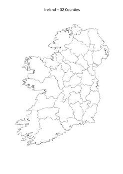 Blank Map Of Ireland Counties.Blank Map Of Ireland 32 Counties Twitterleesclub