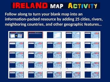 Ireland Map Activity- fun, engaging, follow-along 24-slide PPT