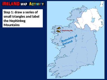 Ireland Map Activity- fun, engaging, follow-along 24-slide PPT