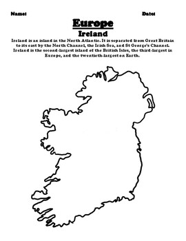 Country Of Ireland Map.Ireland Map And Country Description