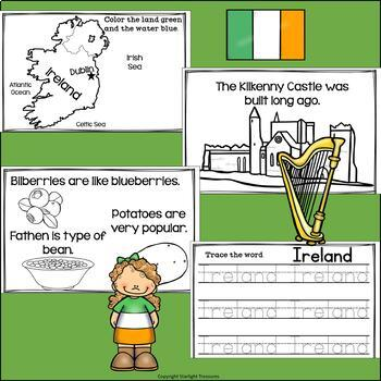Ireland Mini Book for Early Readers - A Country Study