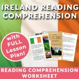 Ireland - Reading Comprehension, Vocabulary, Activities &