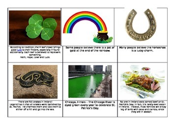 Ireland St. Patrick's Day Montessori Fact cards